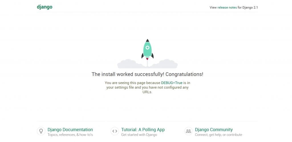 Django start page